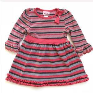 Girls striped sweater dress